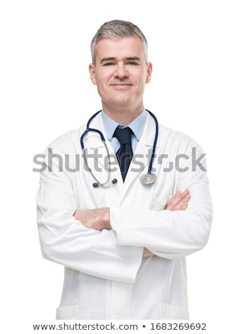 Young caucasian confident doctor. Stock photo © RAStudio
