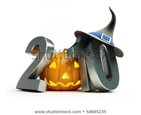 2010 halloween illusztráció szöveg buli jókedv Stock fotó © get4net