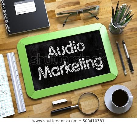 Conversion Marketing - Text on Small Chalkboard. 3D. Stock photo © tashatuvango