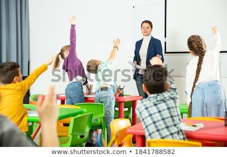 leraar · glimlachend · helpen · studenten · school · klas - stockfoto © monkey_business