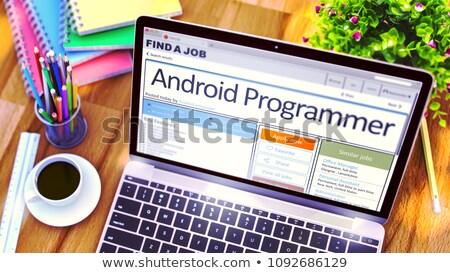 アンドロイド · プログラマ · 新聞 · 仕事 · ツール - ストックフォト © tashatuvango