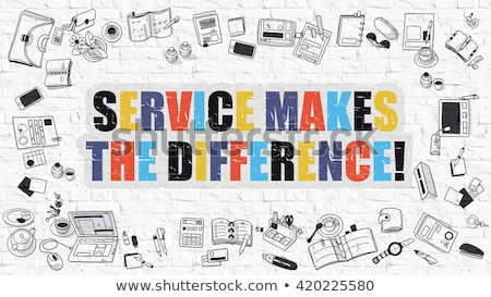 Servicio diferencia garabato diseno blanco Foto stock © tashatuvango