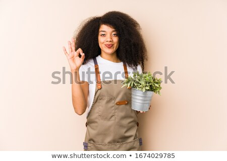 woman planting in garden Stock photo © IS2