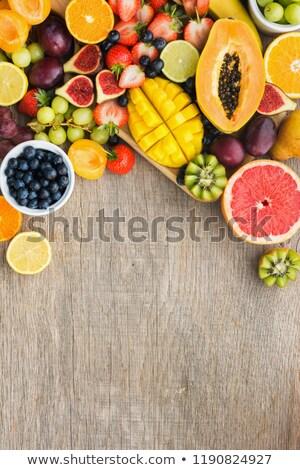 Válogatás gyümölcs fa levél háttér szőlő Stock fotó © M-studio