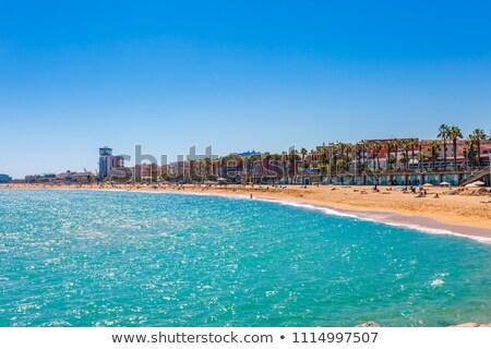 tengerpart · Barcelona · mediterrán · tenger · nyár · víz - stock fotó © neirfy