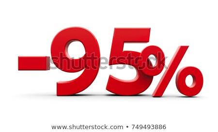 Rood minus vijf procent teken geïsoleerd Stockfoto © Oakozhan