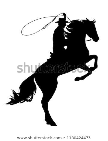 Cowboy niebo człowiek charakter Błękitne niebo Zdjęcia stock © IS2