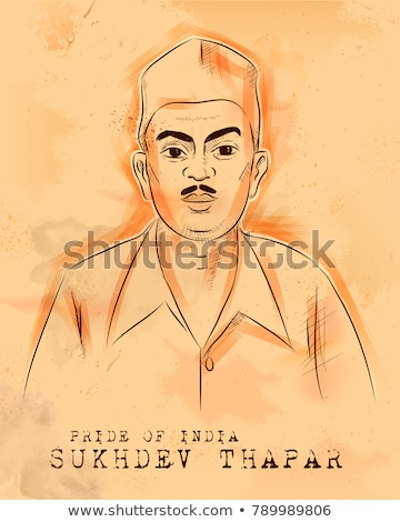Indian background with Nation Hero and Freedom Fighter Sukhdev Thapar Pride of India Stock photo © vectomart
