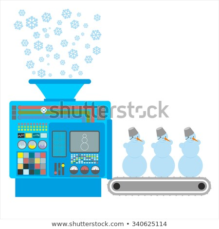 Factory snowmen. Apparatus for producing snow figures. Is  snow  Stock photo © popaukropa