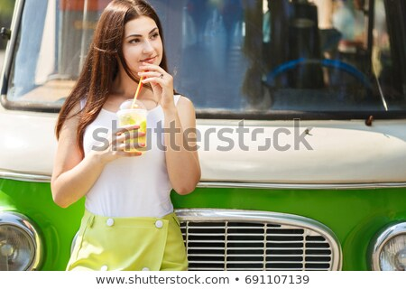 Cute old-fashioned campervan Stock photo © Anna_Om