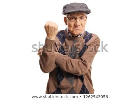 грубый жест изображение мужчины бизнеса кожи Сток-фото © pressmaster