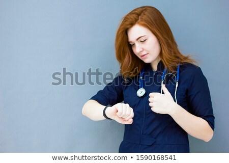 feminino · cardiologista · mulher · médico · vermelho - foto stock © stevanovicigor