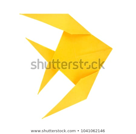 Golden angelfish pterophyllum scalare fish of origami. Stock photo © brulove