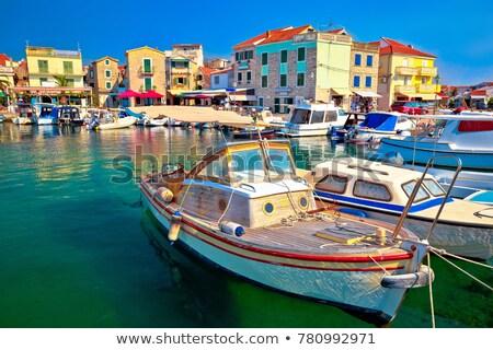 ciudad · vista · región · Croacia · playa - foto stock © xbrchx