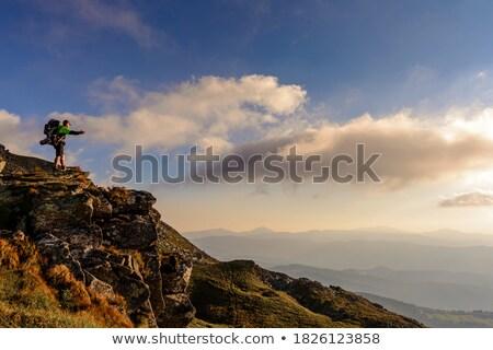 Boy admiring rocky landscape Stock photo © IS2