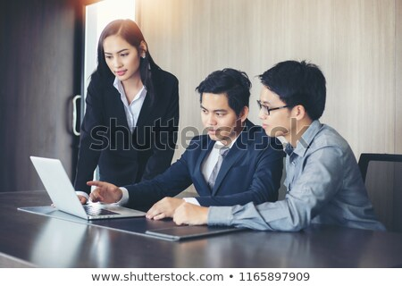 asian · affaires · contrat · entreprise · gens · d'affaires - photo stock © studioworkstock