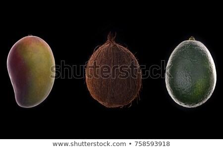 mag · avokádó · makró · kilátás · friss · étel - stock fotó © deandrobot