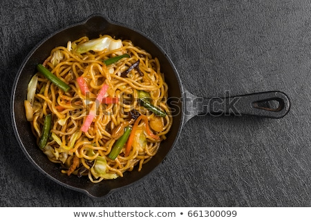 fried noodles and vegetable Stock photo © M-studio
