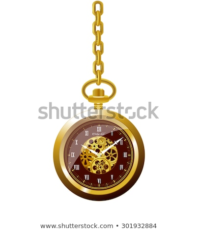 management on the elegant pocket watch mechanism 3d stock photo © tashatuvango