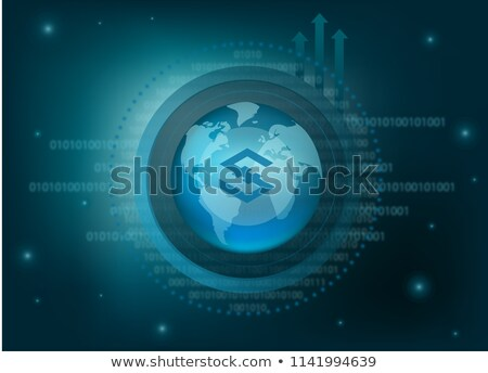 Iostoken Virtual Currency - Vector Coin Symbol. Stock photo © tashatuvango