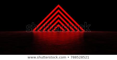 垂直 三角形 黒 赤 ベクトル 幾何学的な ストックフォト © igor_shmel