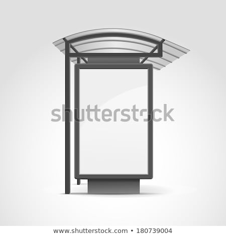 bus stop isolated bus station vector illustration stock photo © popaukropa