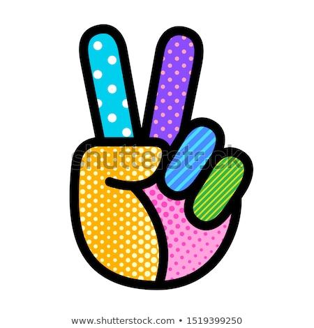 Hippie peace symbol Stock photo © SelenaMay