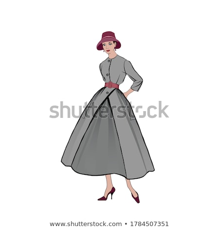 Elegáns divat lány 1950-es évek 1960-as évek stílus Stock fotó © Terriana