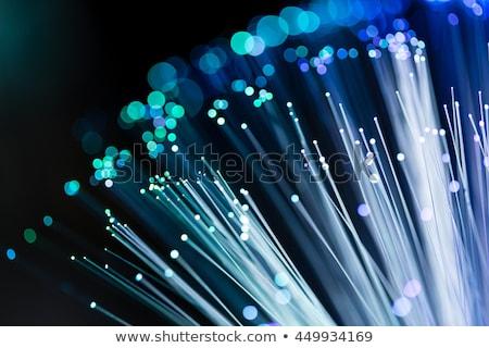 Optic fibra iluminat lumina artă reţea Imagine de stoc © Suriyaphoto