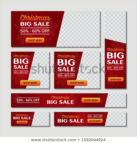 Christmas Big Sale Sticker Set Vector. Santa Claus. Template For Advertising. Discount Tag, Special  Stock photo © pikepicture