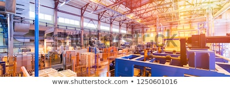 Fiberglass production industry equipment at manufacture background Stock photo © Traimak