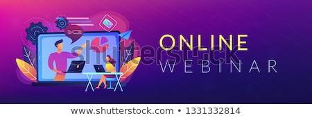 Stock photo: Online webinar header banner.
