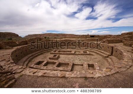 pueblo bonito chaco canyon stock photo © fotogal