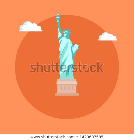 American Enormous Statue of Liberty on Cubic Stand Stock photo © robuart