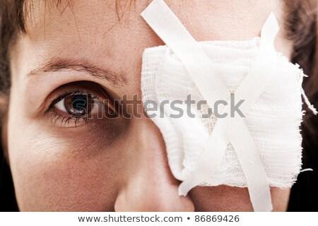 Menina olho ferimento ilustração médico médico Foto stock © bluering