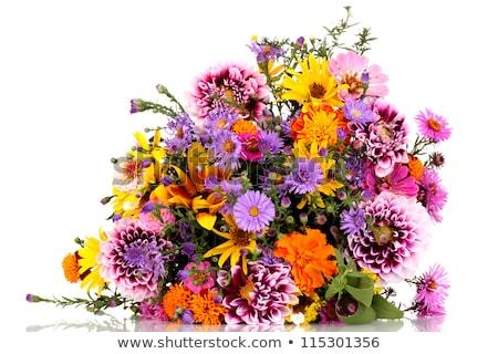 Beautiful bouquet of wild flowers with sunflower Stock photo © ruslanshramko