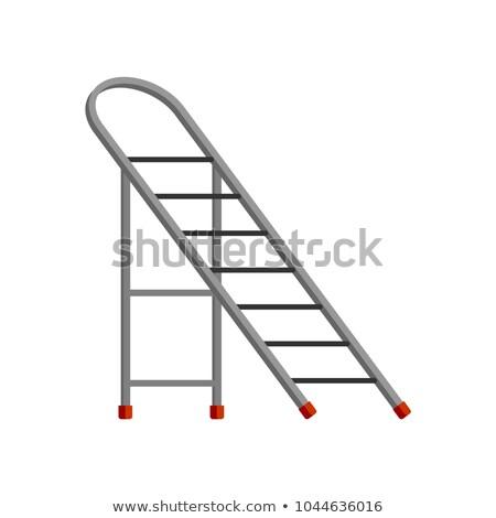 Step ladder isolated. Sliding portable ladder. Vector illustrati Stock photo © MaryValery