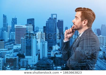verdubbelen · blootstelling · stad · professionele · zakenman · permanente - stockfoto © ra2studio