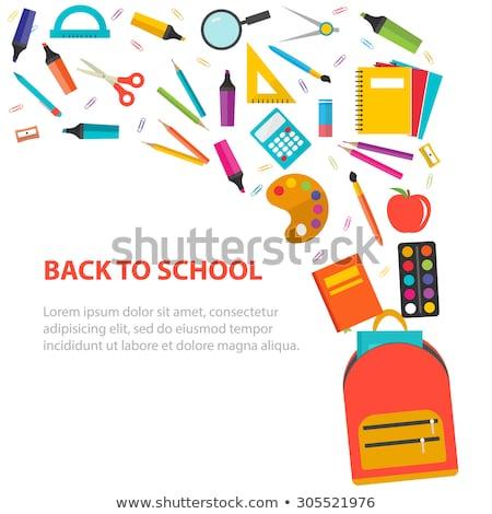 Back to School Satchel Set Vector Illustration Stock photo © robuart
