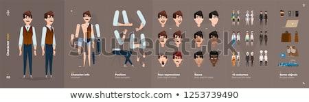 Cartoon boos dief man naar Stockfoto © cthoman