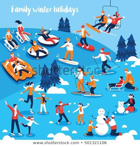 Ekstremalnych zimą wakacje sztuczka Zdjęcia stock © Anna_Om