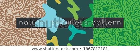 seamless design for green virus stock photo © colematt