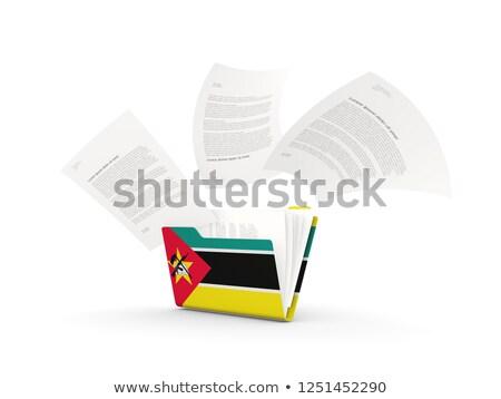 Folder with flag of mozambique Stock photo © MikhailMishchenko