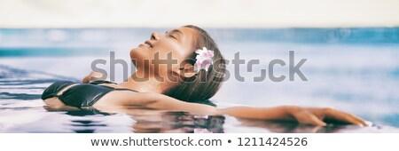 Wellness fürdő hotel szalag fejléc üzletasszony Stock fotó © RAStudio