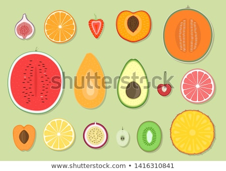 Anguria frutta fetta icona isolato vettore Foto d'archivio © robuart