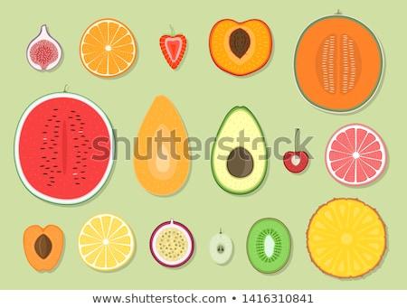 watermelon fruit slice icon vector illustration stock photo © robuart