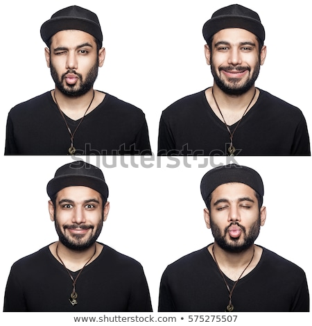 Quatre personnes différent expressions faciales illustration visage homme Photo stock © colematt
