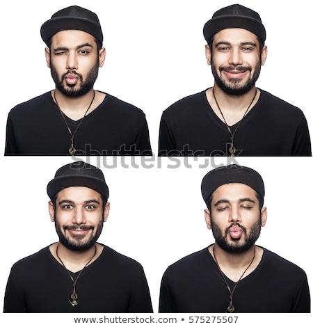 Quatro pessoas diferente expressões faciais ilustração cara homem Foto stock © colematt