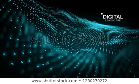 Landscape Vector. Cyber Concept. Futuristic Graphic. Relief Structure. Energy Space. Topography Code Stock photo © pikepicture