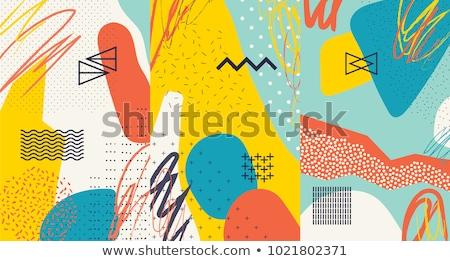ストックフォト: ベクトル · 抽象的な · 創造 · 手描き · 要素 · 異なる